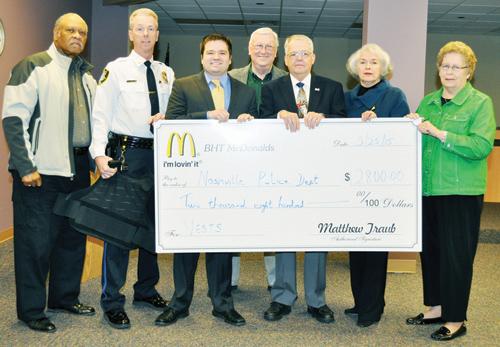 McDonalds buys vests for Nashville Police Department