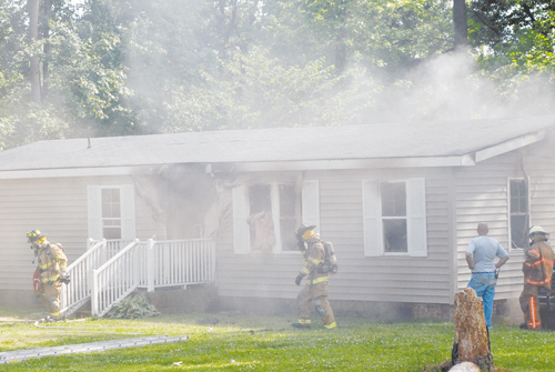 Fire damages Castalia home