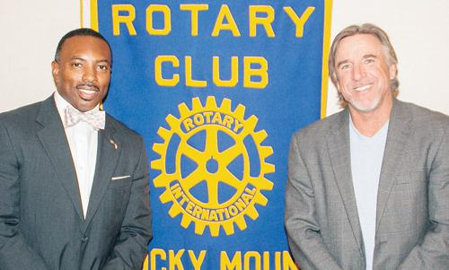 Highway 55 founder Kenny Moore speaks to Rocky Mount Club