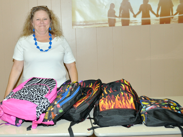 Local church helps with book bag drive